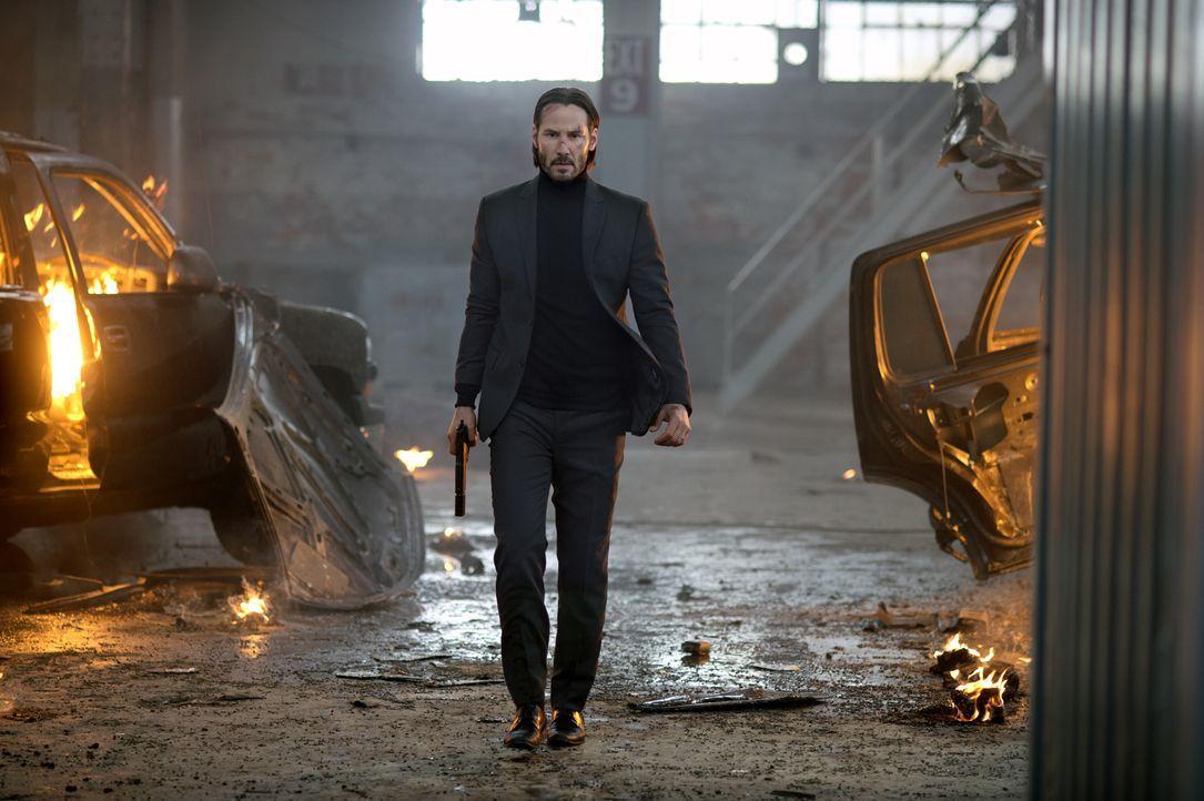 John Wick (Keanu Reeves) war einer der berüchtigtsten Auftragskiller der Branche. Als jedoch das letzte Geschenk seiner verstorbenen Frau, ein klein... - Bildquelle: 2014 SUMMIT ENTERTAINMENT, LLC. ALL RIGHTS RESERVED.