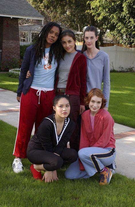In Sunnydale werden die fünf Nachwuchs-Jägerinnen auf ihre zukünftige Rolle vorbereitet: Vi (Felicia Day, vorne r.), Rona (Indigo, hinten l.), Kenne... - Bildquelle: TM +   Twentieth Century Fox Film Corporation. All Rights Reserved.