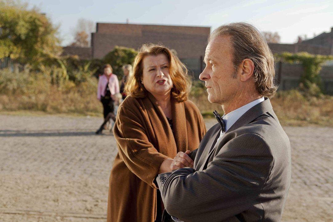 Nachdem Rolf Bode (Thomas Anzenhofer, r.) erfahren hat, welchen Job seine Frau Ulla (Traute Hoess, l.) ausübt - kann er nicht mehr an sich halten ... - Bildquelle: Frank Dicks SAT.1