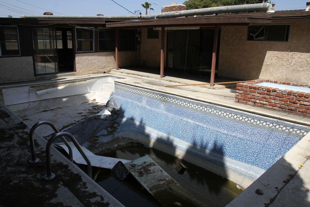 Damit man erkennt, dass das ein Pool ist, sind noch einige Arbeiten nötig ... - Bildquelle: 2013,HGTV/Scripps Networks, LLC. All Rights Reserved