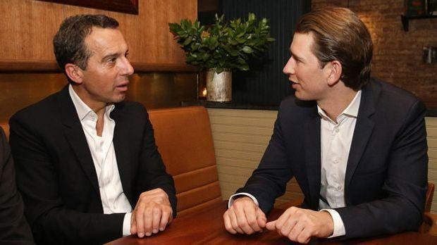 Kanzler Christian Kern (L) und Außenminister Sebastian Kurz