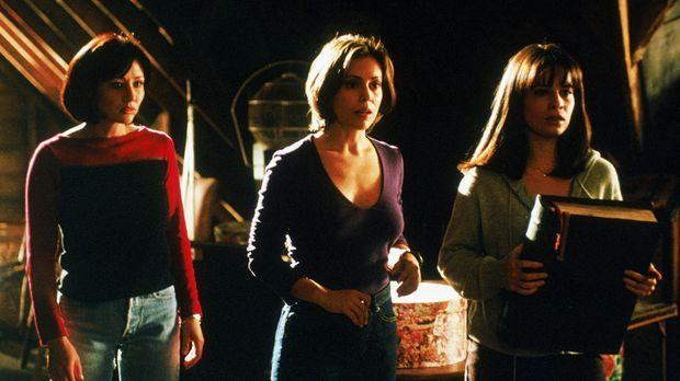 Wenn Piper (Holly Marie Combs, r.), Phoebe (Alyssa Milano, M.) und Prue (Shan...