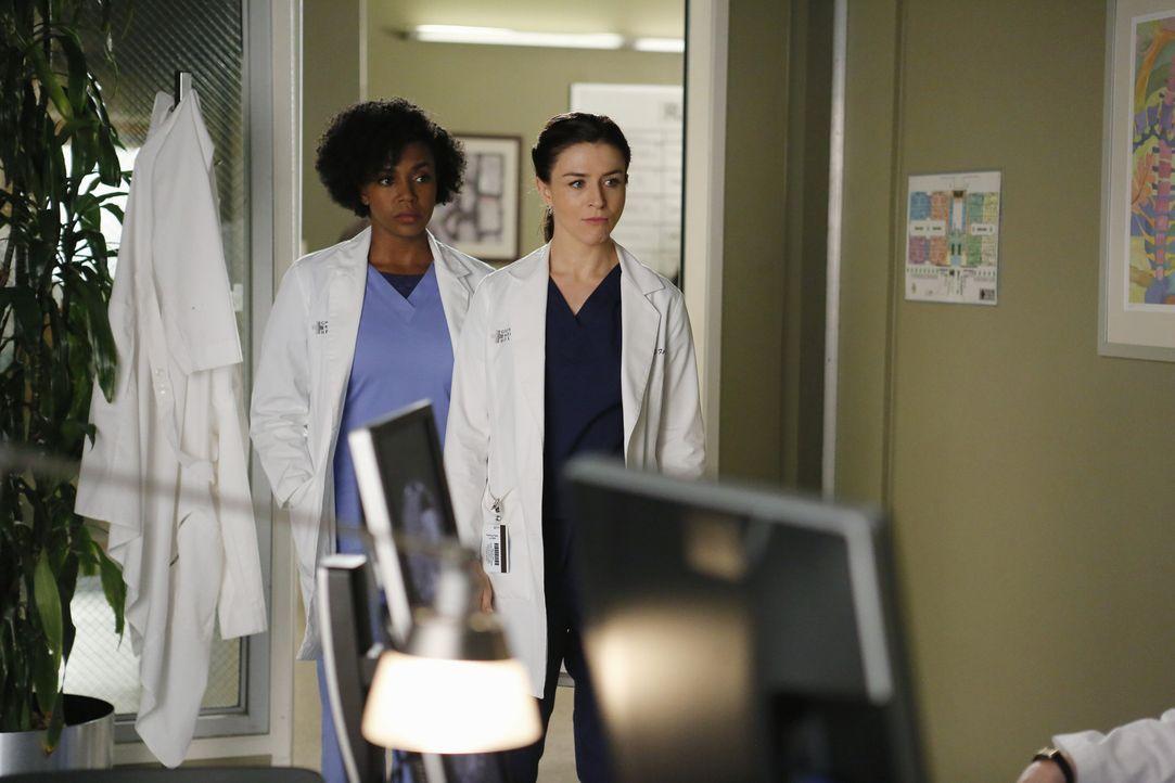 Nicht nur berufliche Herausforderungen warten auf Amelia (Caterina Scorsone, r.) und Stephanie (Jerrika Hinton, l.) ... - Bildquelle: Tony Rivetti ABC Studios