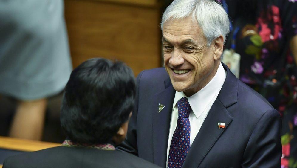 Chiles Staatspräsident Sebastian Pinera - Bildquelle: AFPSIDNELSON ALMEIDA