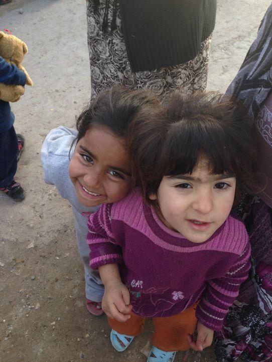 Kinder im unorganisierten Fl++chtlingslager