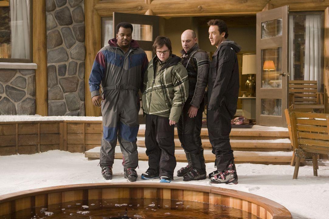 Ein Bad im dampfenden Sprudelbecken soll alles verändern: (v.l.n.r.): Nick (Craig Robinson), Jacob (Clark Duke), Lou (Rob Corddry) und Adam (John Cu... - Bildquelle: 2010 Twentieth Century Fox
