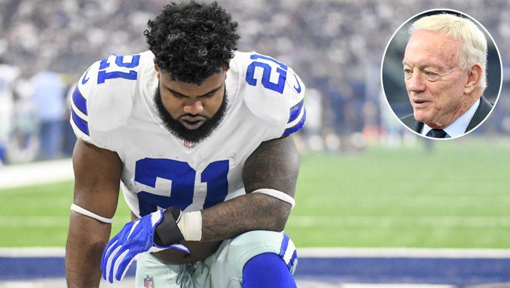 Cowboys-Owner Jerry Jones will gegen eine Sperre von Ezekiel Elliott kämpfen... - Bildquelle: imago
