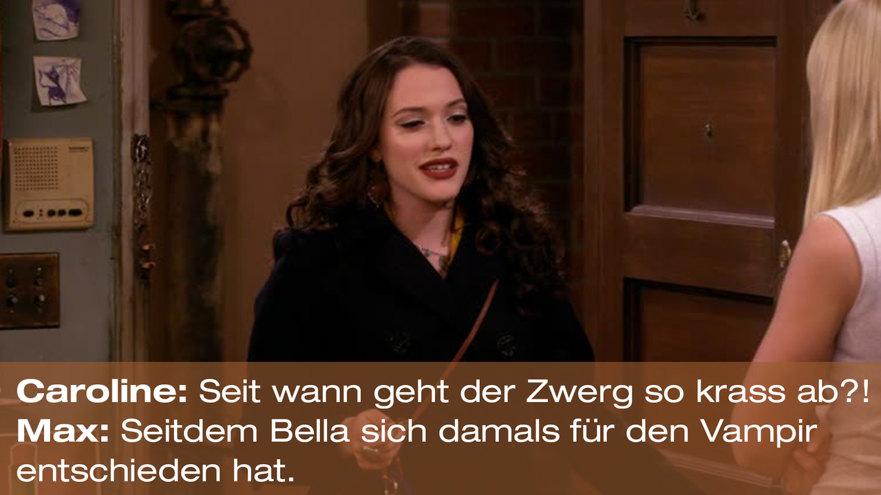 2-Broke-Girls-Zitat-Quote-Staffel2-Episode20-Das-Loch-in-der-Decke-Max-Bella-Warner - Bildquelle: Warner Bros. Television