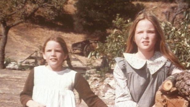 Unsere kleine Farm - Laura (Melissa Gilbert, l.) und Mary (Melissa Sue Anders...