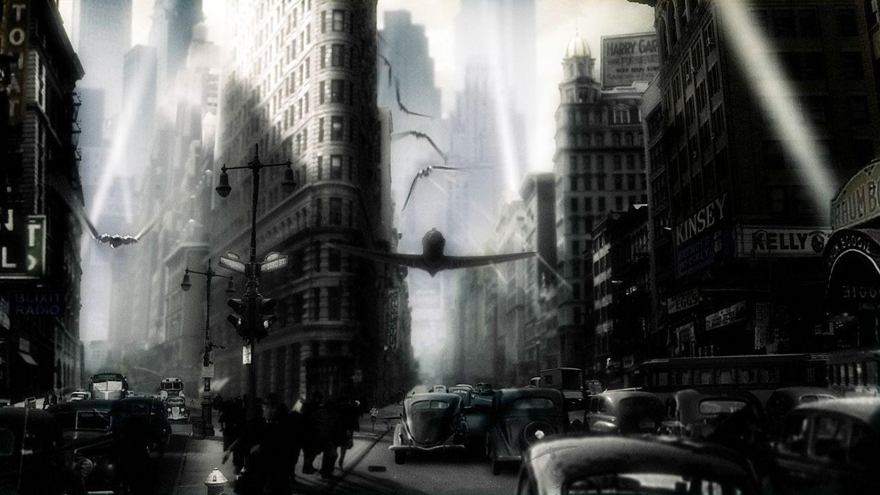 """Das geniale Superhirn """"Dr. Totenkopf"""" beherrscht eine Armee finsterer Kreaturen und plant die Vernichtung des Planeten. Können Polly und Sky Captain... - Bildquelle: TM & Copyright   Brooklyn Films II And Filmauro S.R.L."""