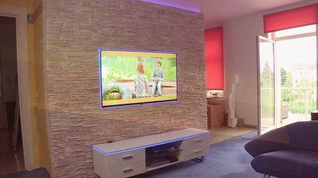 Tv wand naturstein  Bauanleitung Fernsehwand aus Stein