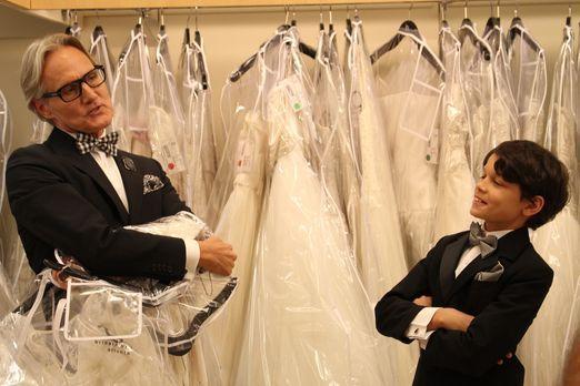 Mein perfektes Hochzeitskleid! - Wie kommt Monte (l.) mit dem kleinen Jayden...