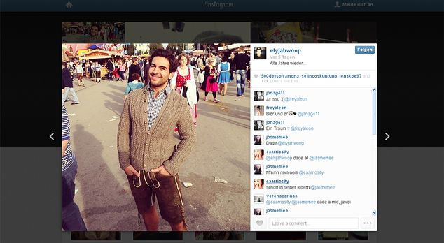 Oktoberfest-Elyas-M-Barek-13-09-22 - Bildquelle: Instagram/Elyas M'Barek