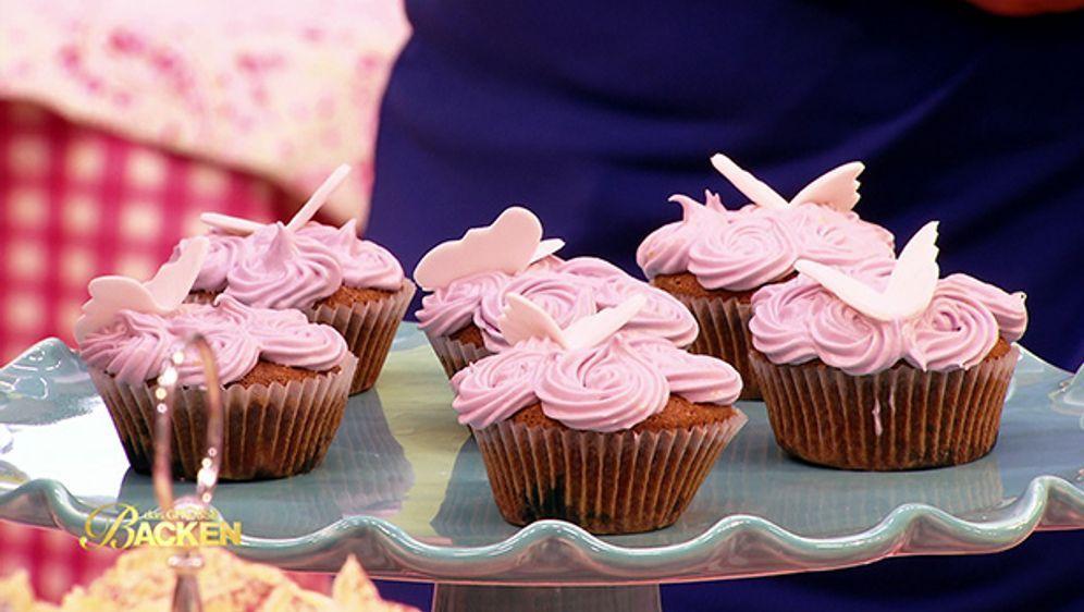 Cupcakes: Blaubeertraum mit Häubchen