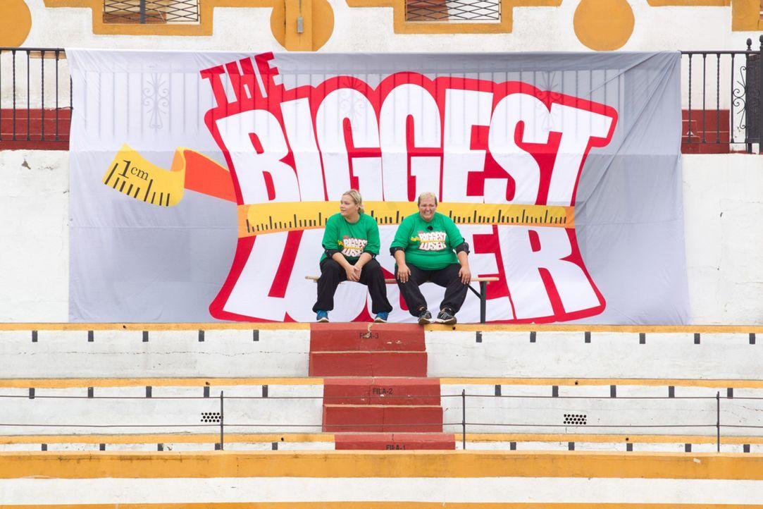 """Wollen """"The Biggest Loser"""" werden: Sabrina (l.) und Sandy (r.) ... - Bildquelle: SAT.1"""