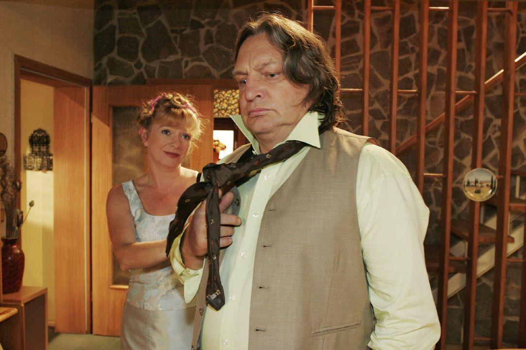 """Bei Bernd (Volker Herold, r.) und Helga (Ulrike Mai, l.) stellt sich Wehmut ein: Ihr """"Schnattchen"""" heiratet! - Bildquelle: Noreen Flynn Sat.1"""