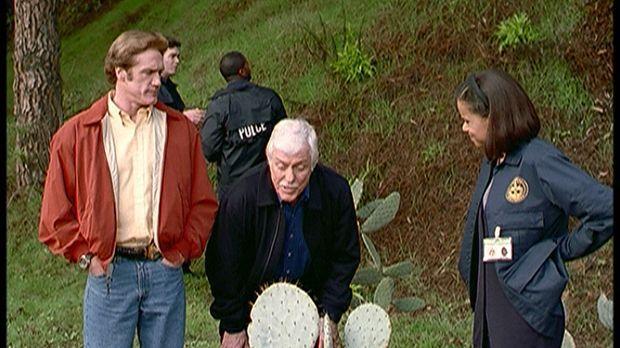 Dr. Mark Sloan (Dick Van Dyke, M.), Steve (Barry Van Dyke, l.) und Amanda (Vi...