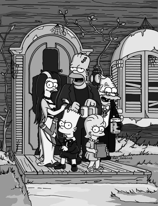 """Familie Simpson zu Halloweeen im """"Munster""""-Look. - Bildquelle: TM +   2000 Twentieth Century Fox Film Corporation. All Rights Reserved."""