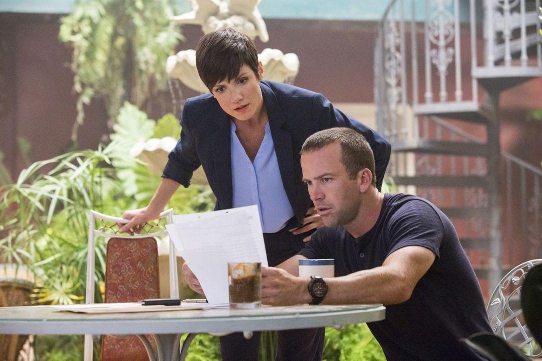 Als eine Leiche gefunden wird, versuchen Brody (Zoe McLellan, l.) und Lasalle (Lucas Black, r.) alles, um den Täter zu fassen ... - Bildquelle: 2014 CBS Broadcasting Inc. All Rights Reserved.