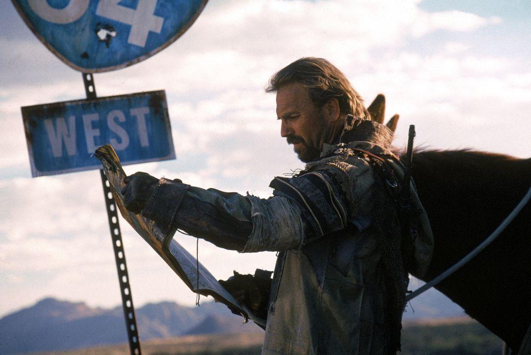 Im Jahre 2013 sind die USA völlig verwüstet. Ein namenloser Fremder (Kevin Costner) zieht in dieser Zeit mit seinem Esel durch das Land, bis er eine... - Bildquelle: Warner Bros. Pictures
