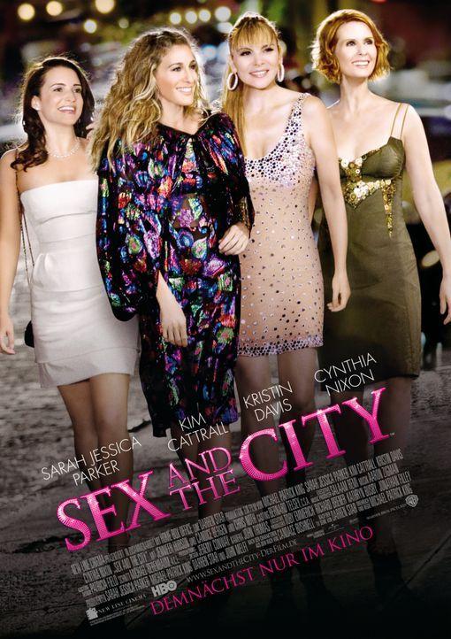 Sex, Liebe, Mode und Männer: Die vier starken Frauen Charlotte (Kristin Davis, l.), Carrie (Sarah Jessica Parker, 2.v.l.), Samantha (Kim Cattrall, 2... - Bildquelle: Warner Brothers