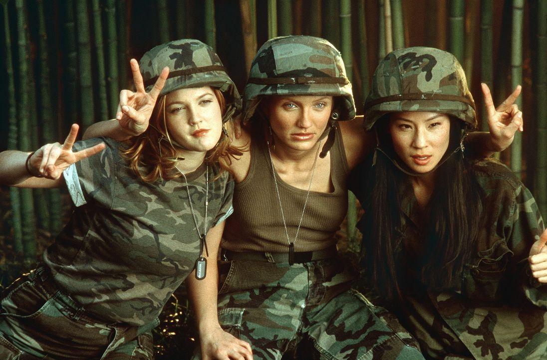 Drei Engel im Kampf mit dem Bösen: Dylan (Drew Barrymore, l.), Natalie (Cameron Diaz, M.) und Alex (Lucy Liu, r.) ... - Bildquelle: Columbia Pictures