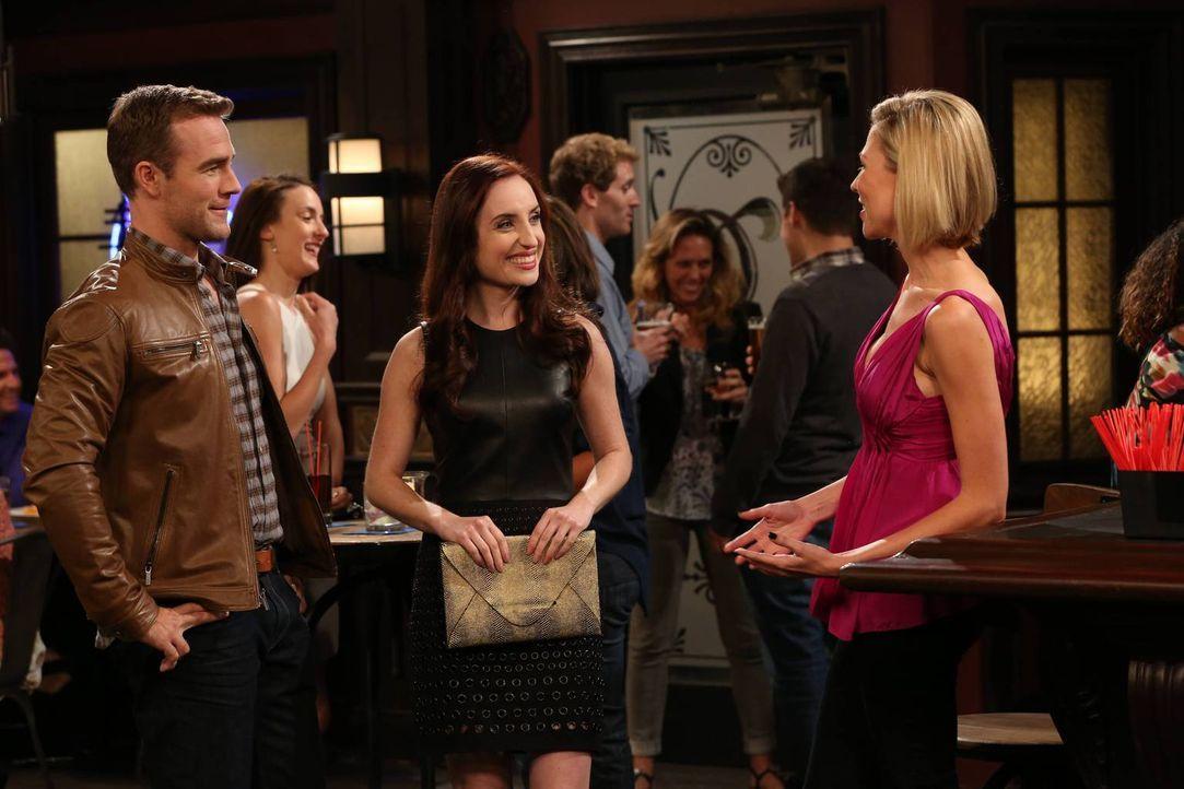 Noch glaubt Kate (Zoe Lister-Jones, M.), dass sie Will (James Van Der Beek, l.) mit der hübschen Jess (Desi Lydic, r.) verkuppelt ... - Bildquelle: 2013 CBS Broadcasting, Inc. All Rights Reserved.