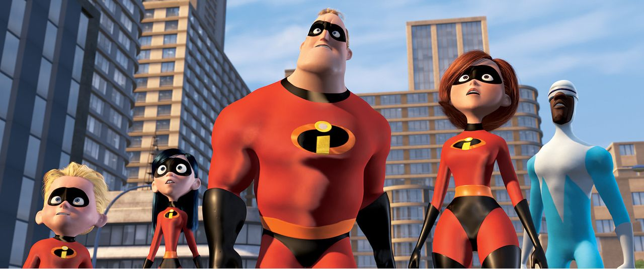 Sagen dem fiesen Syndrome, der alle Superhelden auslöschen will, den Kampf an (v.l.n.r.): Flash, Violetta, Mr. Incredible, Elastigirl und Frozone ... - Bildquelle: Disney/Pixar. All rights reserved