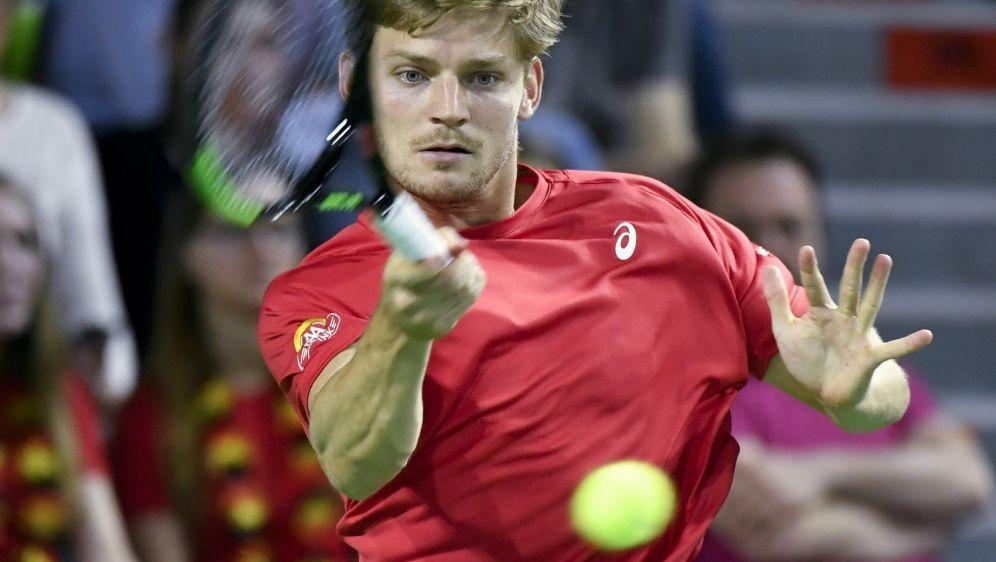 Goffin in der Davis-Cup-Partie gegen Paolo Lorenzi - Bildquelle: AFPSID