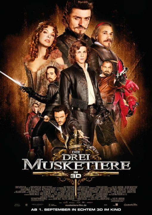 Die drei Musketiere - Plakatmotiv - Bildquelle: 2011 Constantin Film Verleih GmbH.