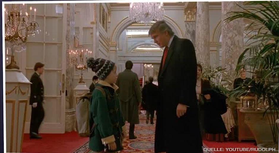 Bildergebnis für Donald Trump allein Zuhaus?