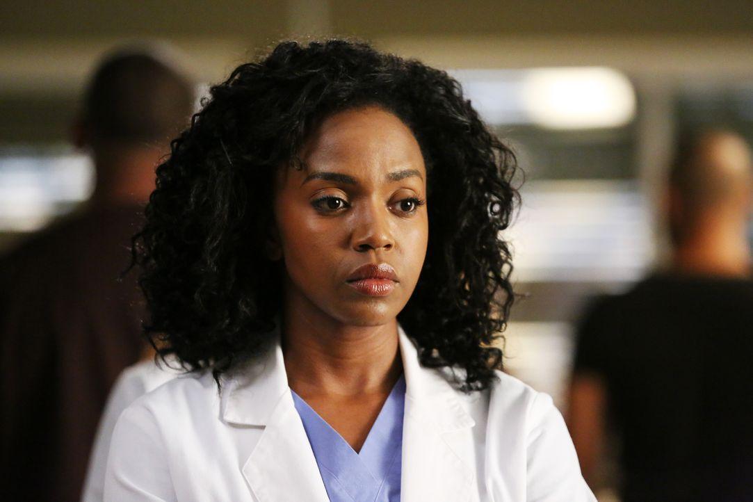 Stephanie (Jerrika Hinton) hat nach dem Ultraschall von April einen furchtbaren Verdacht  ... - Bildquelle: ABC Studios