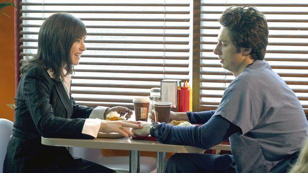 J.D. (Zach Braff, r.) hat eine neue Freundin, was allerdings von seinen Freun...