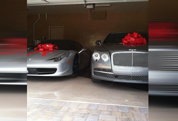 Mayweather und seine Geschenke - Bildquelle: Instagram/Mayweather
