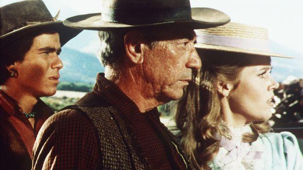 Jackson Two Bears (Tom Nardini, l.) und Cat Ballou (Jane Fonda, r.) wollen Fr...