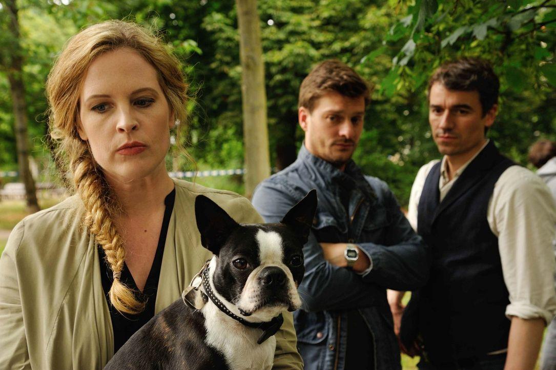 Als im Görlitzer Park eine junge Frau ermordet wird, beginnt für Josephine (Diana Amft, l.), Fritz (Matthi Faust, M.) und Alexander (Alexander Khuon... - Bildquelle: Hardy Spitz SAT.1