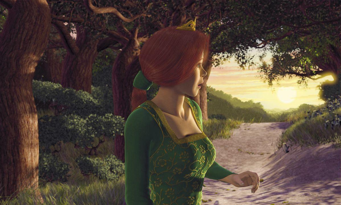 """Ein wehmütiger Blick zurück in die """"Freiheit"""": Prinzessin Fiona ist der Gedanke, einen Unbekannten heiraten zu müssen, nicht besonders wohl ... - Bildquelle: TM &   2001 DreamWorks L.L.C."""