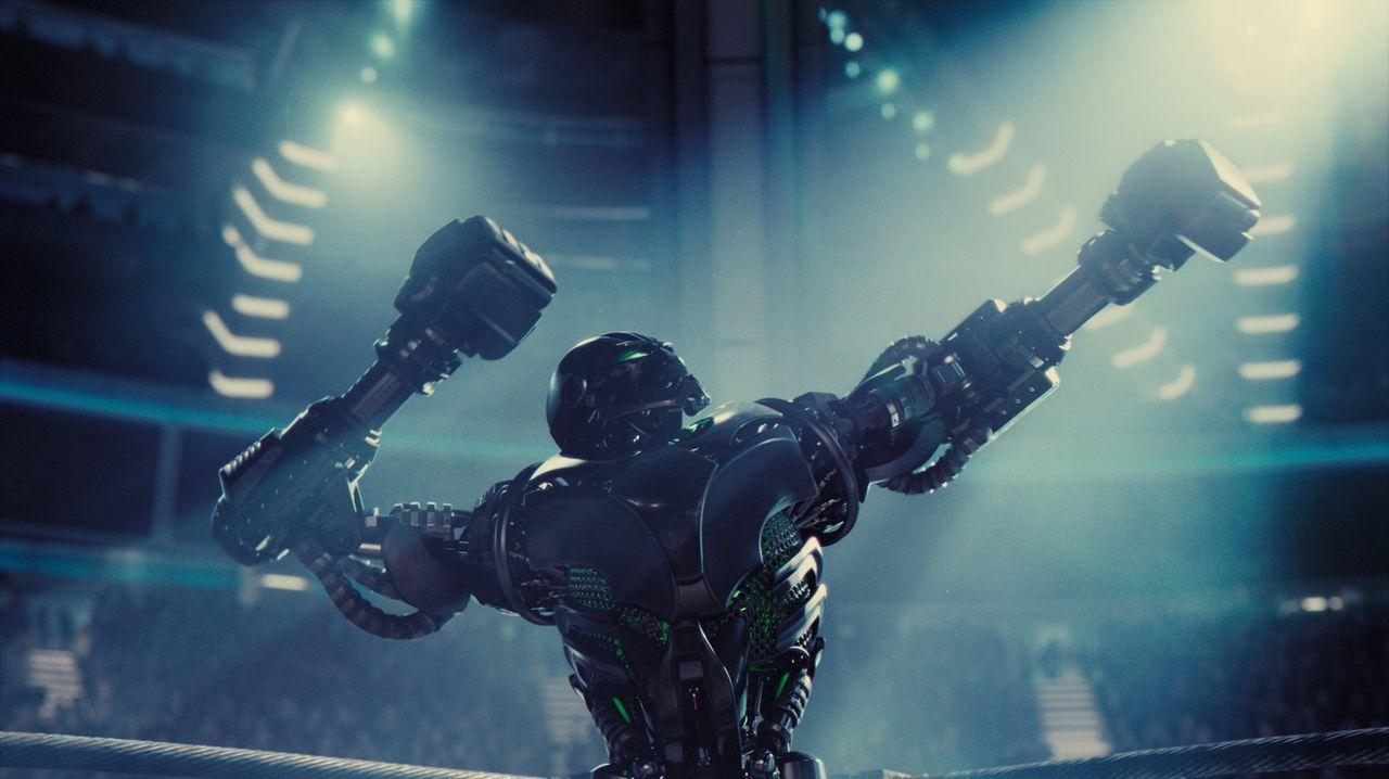 Nach einigen grandiosen Siegen seines Roboters fordert Max das Team von Zeus (Bild) zum Kampf heraus. Hat Atom auch nur einen Hauch der Chance gegen... - Bildquelle: Greg Williams, Melissa Moseley DREAMWORKS STUDIOS.  All rights reserved