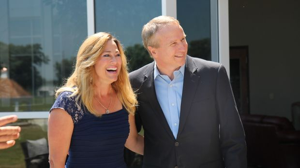 Ritch (r.) und Kimberly (l.) Boerckel sind überglücklich, dass das Grundstück...