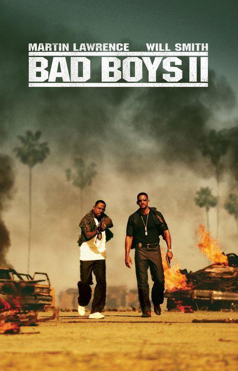 Bad Boys ll: Die beiden Drogenfahnder Mike Lowrey (Will Smith, r.) und Marcus Burnett (Martin Lawrence, l.) jagen den kubanischen Ecstasy-Baron Hect... - Bildquelle: 2004 Sony Pictures Television International. All Rights reserved.