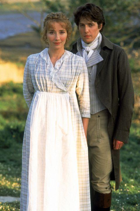 Ihre Zurückhaltung bringt Elinore Dashwood (Emma Thompsons, l.) ihrem Angebeteten Edward Farrars (Hugh Grant, r.) nicht so recht näher ... - Bildquelle: Columbia Pictures