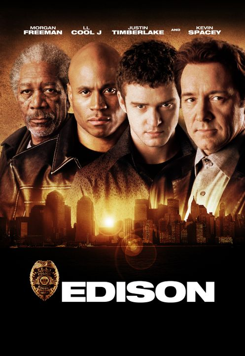 """Edison"" mit (v.l.n.r.) Moses Ashford (Morgan Freeman), Deed (LL Cool J), Josh (Justin Timberlake) und Levon Wallace (Kevin Spacey) … - Bildquelle: 2005 FILM & ENTERTAINMENT VIP MEDIENFONDS 3 GmbH & Co. KG GmbH"