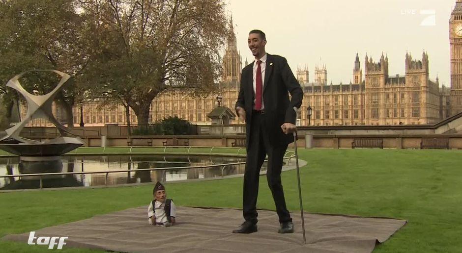 Taff Video Der Größte Mann Der Welt Trifft Den Kleinsten Mann