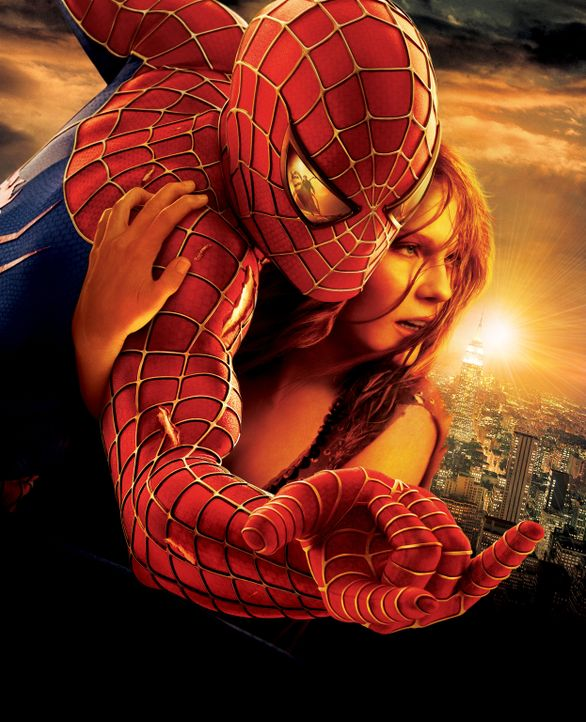 Spider-Man (Tobey Maguire, l.) leidet sehr darunter, dass er, um seine Identität geheim halten zu können, seine Liebe zu Mary Jane (Kirsten Dunst, r... - Bildquelle: Sony Pictures Television International. All Rights Reserved.