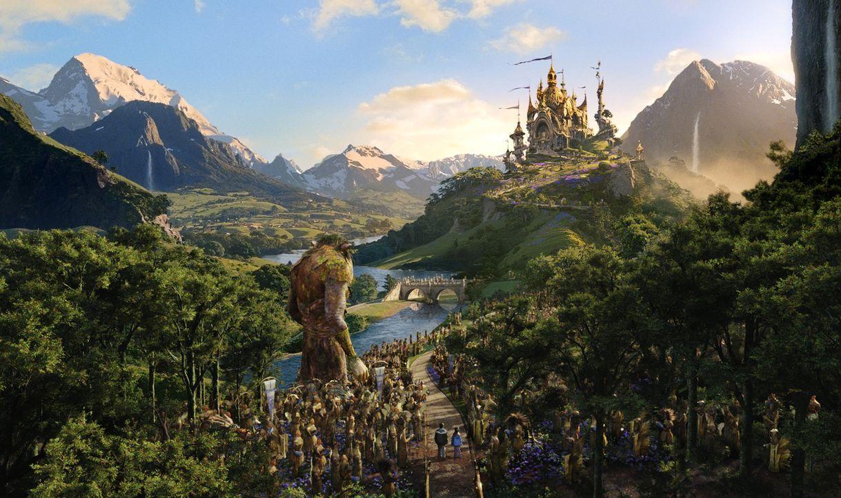 """In einem nahe gelegenen Wald schaffen sich Jess und Leslie eine Phantasiewelt, die sie """"Terabithia"""" nennen. Ein magisches Königreich voller Fabelwes... - Bildquelle: 2006 Constantin Film, München"""