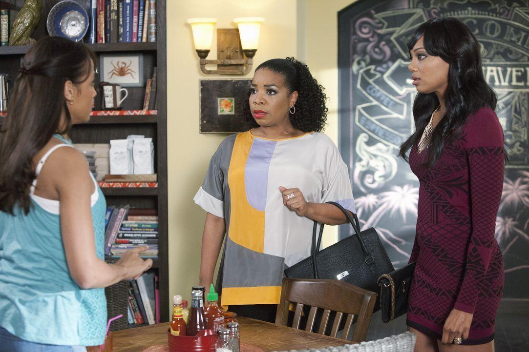 Rosie (Dania Ramirez, l.) baut darauf, dass die Liebe zu Kenneth bei Lucinda (Kimberly Hebert Gregory, M.) und Didi (Tiffany Hines, r.) über ihren S... - Bildquelle: 2014 ABC Studios