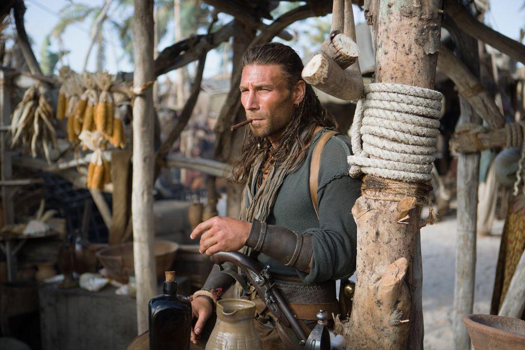 Auch dem sonst etwas flegelhaften Captain Vane (Zach McGowan) gelingt es, teilweise vernünftig zu handeln ... - Bildquelle: 2013 Starz Entertainment LLC, All rights reserved