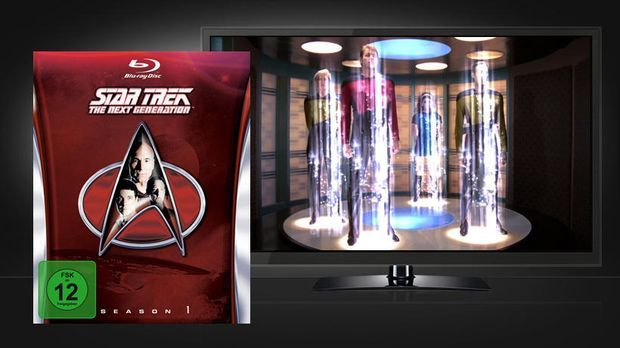 Star Trek - The Next Generation Season 1: Szene und Blu-ray Cover