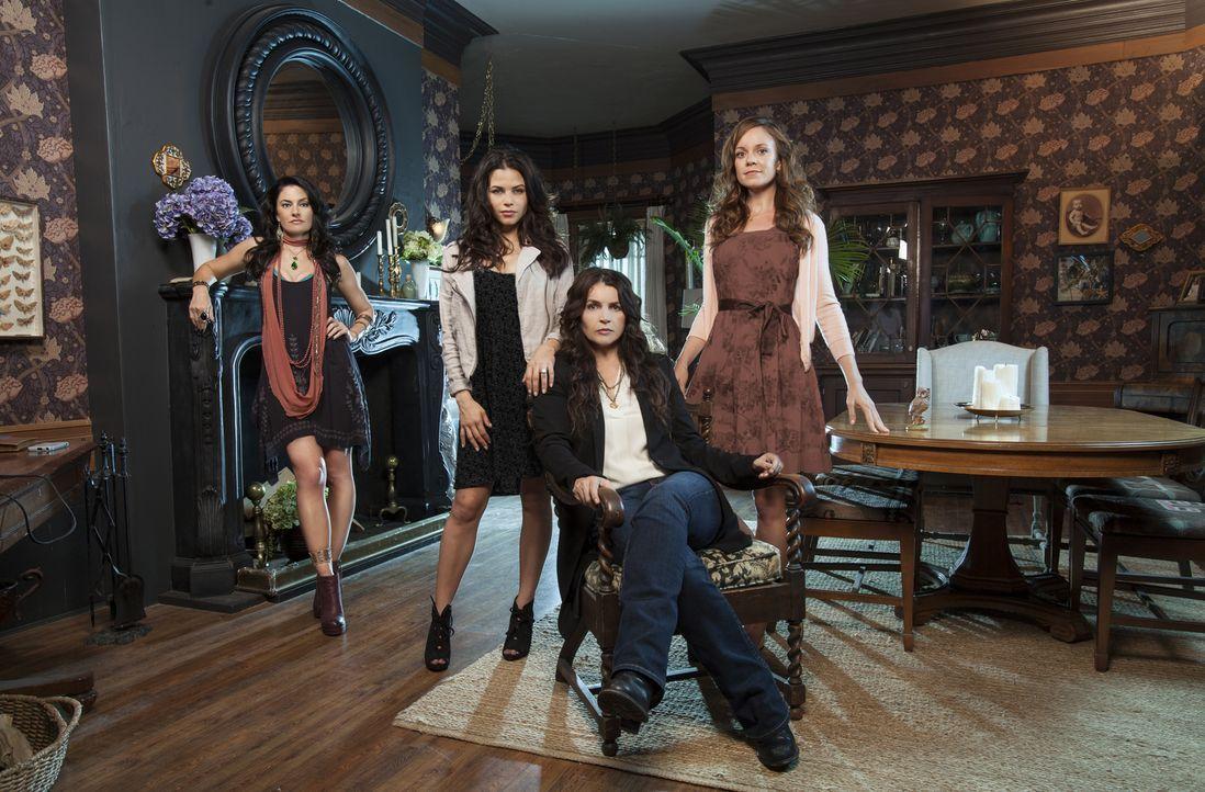 (1. Staffel) - (v.l.n.r.) Das Leben der Beauchamps verändert sich schlagartig mit dem plötzlichen Auftauchen von Wendy (Mädchen Amick), die eine War... - Bildquelle: 2013 Lifetime Entertainment Services, LLC. All rights reserved.