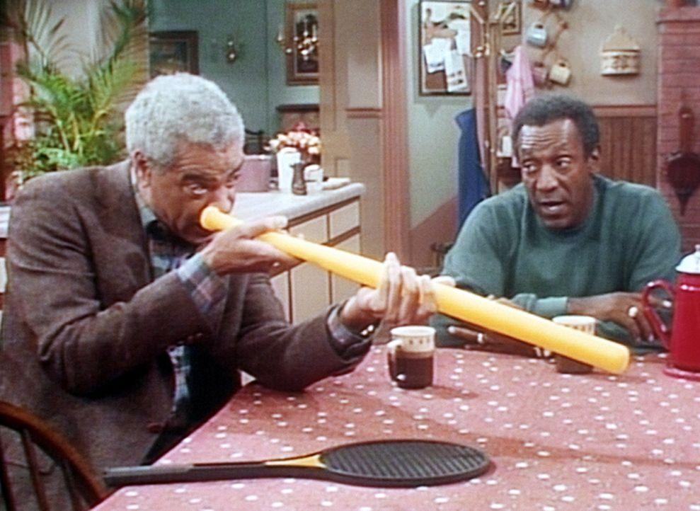 Immer wieder erzählt Großvater Russell (Earle Hyman, l.) eine Geschichte aus dem Krieg, die Cliff (Bill Cosby, r.) schon tausend Mal gehört hat. - Bildquelle: Viacom